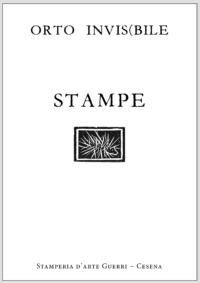 Copertina raccolta stampe calcografiche Orto invisibile